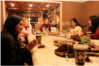 SOSS members get to know each other over a meal. – Photo: SOSS