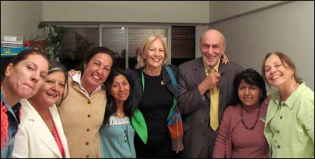 Sally, on the right, with a group of United Religion Initiative friends – Photo: URI.org