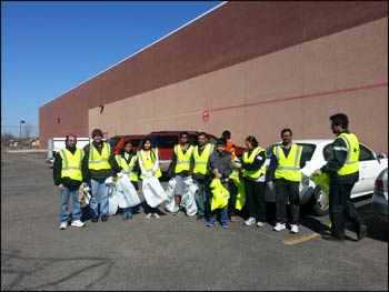 Hindu American teenagers in Michigan prepare for a clean-up day.