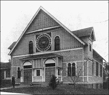 Congregation of Israel was the first permanent Jewish house of worship in Nebraska, built in 1884. – Photo: Jewish American Society for Historical Preservation