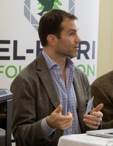 Emile Bruneau presenting his research at an El Hi  bri Foundation meeting – Photo: El Hibri Foundation