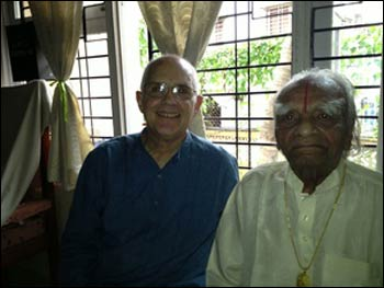 Phil Goldberg meeting B.K.S. in Pune, India