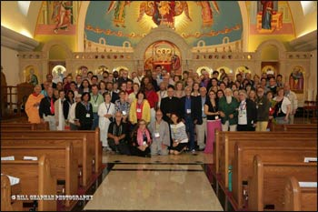 Those attending NAINConnect 2014 gathered for a group photo during their site visit to St. Mary's Antiochian Orthodox Church. – Photo: Bill Chapman