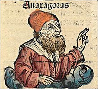 Anaxagoras, drawn as a medieval scholar, though the early Greek philosopher lived 2,500 years ago. Photo: Wikipedia