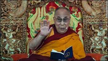 Tibetan spiritual leader the Dalai Lama teaches the Buddhist faithful near Leh, India, on his 79th birthday. – Photo: CNN