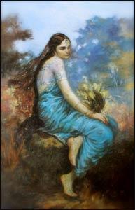 """Radha"" by Dhriti Dasi – Courtesy of Bhaktivedanta Archives, www.krishna.com"