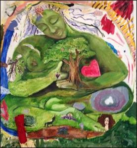 Community art piece at Gaia Healing Center, Frederick, MD
