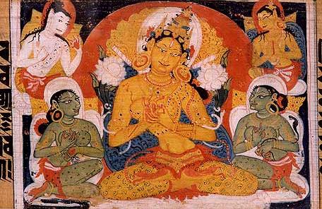Prajñāpāramitā personified. From the Aṣṭasāhasrikā Prajñāpāramitā Sūtra. – Photo: Wikimedia Commons