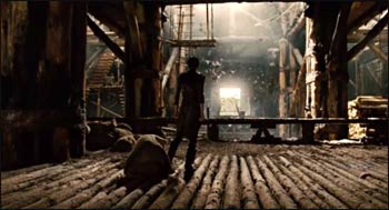 Inside the ark in the film Noah