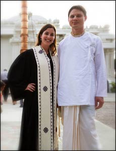 Rev. Dana Trent with her husband Fred, or Gauravani das. – Photo: Elephant Journal