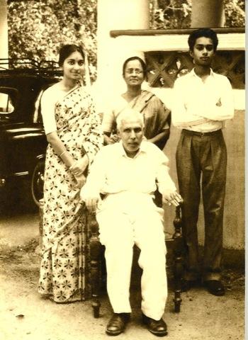 Joseph Prahbu with his sister and parents in Calcutta – Photo: Courtesy of Joseph Prabhu
