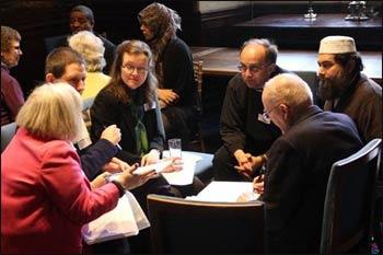 Conversation at a Christian Muslim Forum program. Photo: CMF