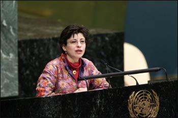 Azza Karam, Senior Advisor on Culture at the United Nations Population Fund (UNFPA). – Photo: Paulo Filgueiras