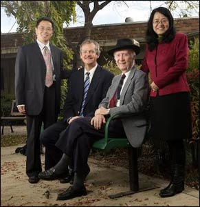 Zhihe Wang (l.), Philip Clayton, John Cobb, and Meijun Fan – Photo: Tom Zasadzinski