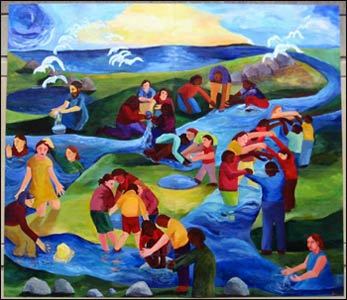 The Interfaith Mural – Katherine Chilcote and Friends, Cleveland Murals