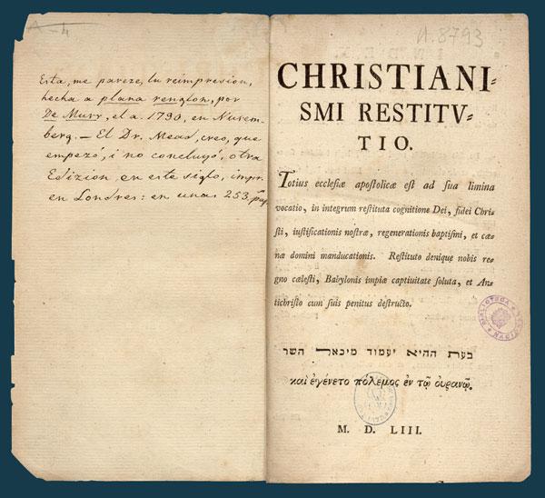 Christianismi Restitutio – Photo:  Skinner House Books