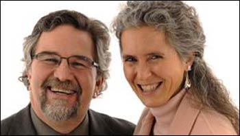 Victor Kazanjian and his spouse, Michelle Lepore – Photo: BU Photography