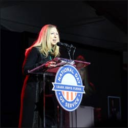 Chelsea Clinton speaks during the National Day of Service, Inaugural Weekend 2013. Photo courtesy of Avelino Maestas via Flickr