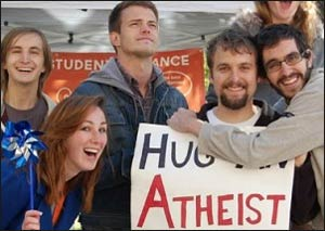 Members of the Illini Secular Student Alliance celebrating at the University of Illinois at Urbana-Champaign having a good time. Read the  story . Photo: Religion Dispatches