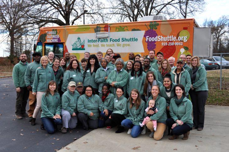 The Inter-Faith Food Shuttle team – Photo: Inter-Faith Food Shuttle