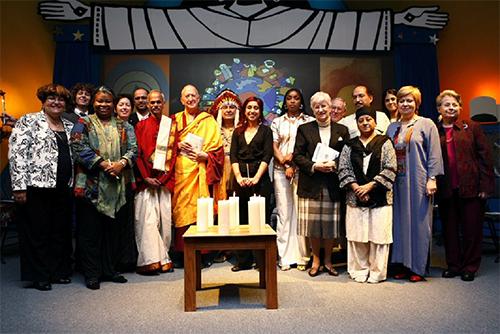 A meeting of Religions pour la Paix – Québec, where Pascale Frémond serves as president.
