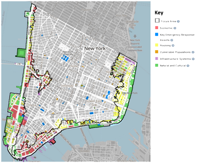 A zoning map of lower Manhattan – Graphic: New York Rising