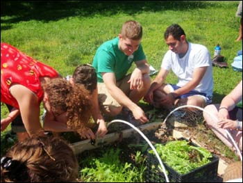 The Summer Institute is as much about food and farming as about interfaith dialogue.