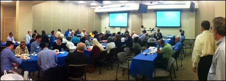 A Muslim iftar is celebrated with members of the interfaith community in Nashville, Tennessee, last year.