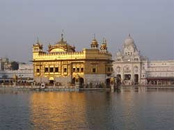 The Golden Temple in Amritsar, home of the Sikh faith.