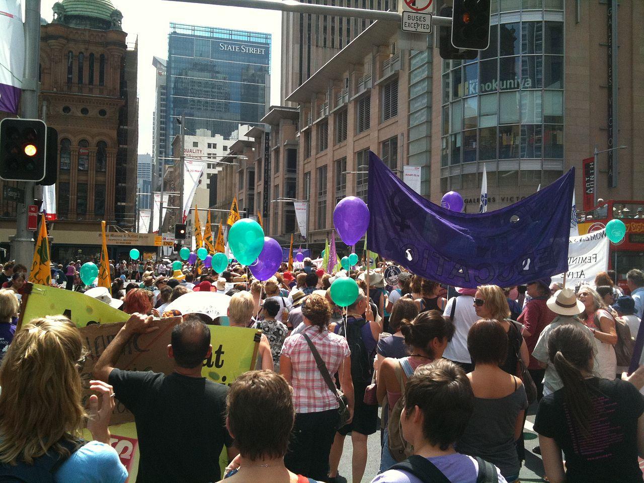 International Women's Day celebrated in Sydney, Australia in 2011 – Photo: Wikimedia,  sridgway, Cc.2.0