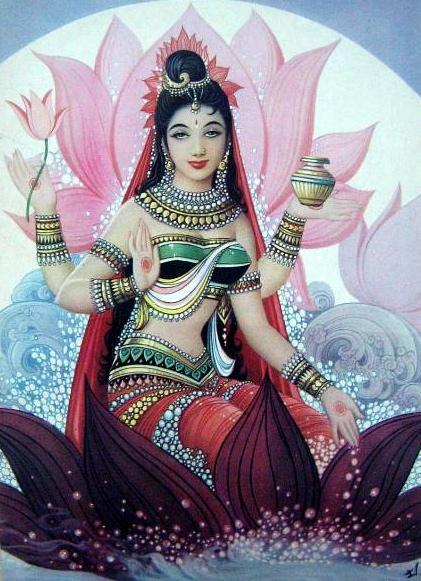 Shri Lakshmi is one of Hinduism's most loved deities. – Photo: Wikimedia, Bazar Art