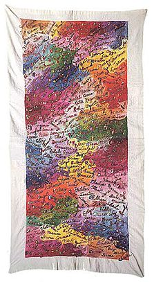 Justine Merritt's first Ribbon Panel is embroidered with the names of people she loved. Photo: Wikimedia,  Michelemariesimone , Cc.3.0