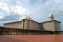 Islam, as practiced here at the Istiqial Mosque in central Jakarta, is Indonesia's dominant religion, but the government has a long tradition of supporting interfaith dialogue.