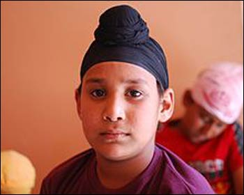 A Sikh boy wearing a 'patka.' – Photo: Wikipedia