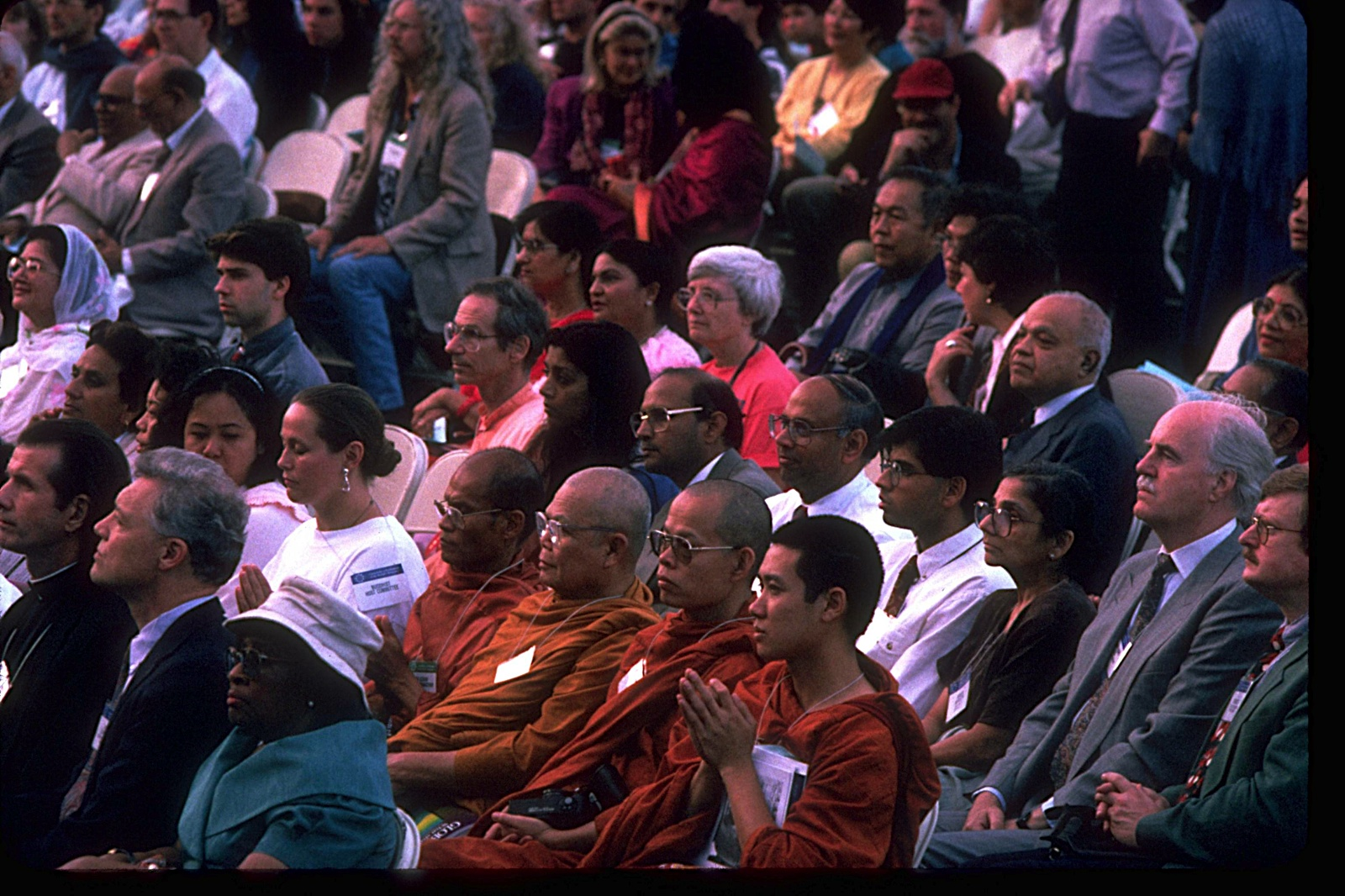 A few of the 8,000 who came to Chicago for the 1993 Centennial Parliament. – Photo: CPWR