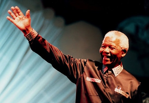 Nelson Mandela at the 1999 Parliament of the World's Religions in Cape Town – Photo: Dharma Forest Community