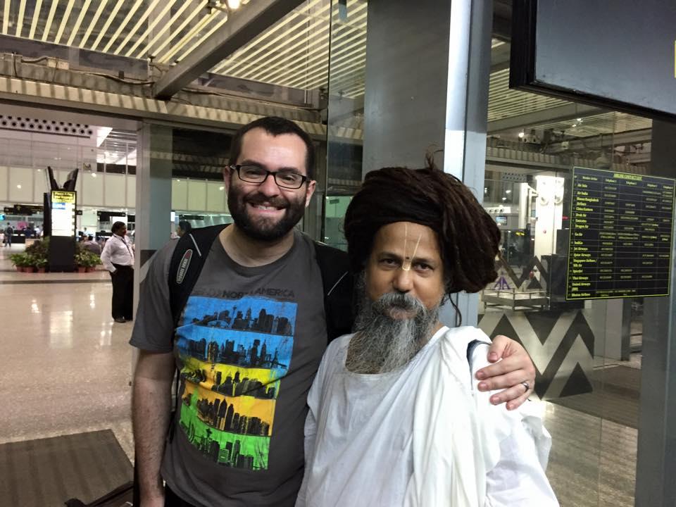 Guru Brindiban Bihari Das of the International Nimbarka Society in Kolkata and me.