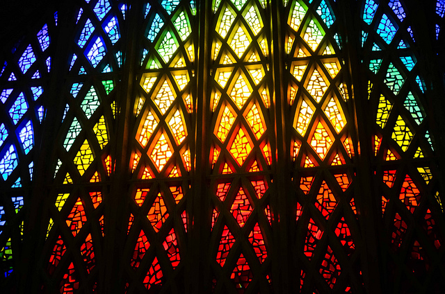 Interfaith chapel window – Photo:  Ryan Hyde, Cc.2.0