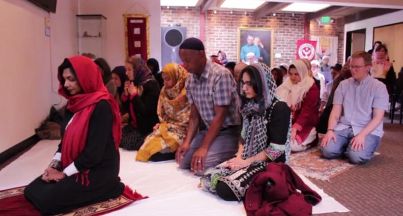 "Worship at Qal'bu Maryam (""Heart of Mary"") Women's Mosque in Berkeley – Photo: LinkedIn,  Starr King School of Ministry"