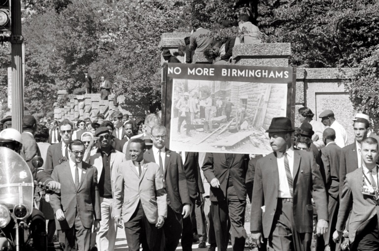 A march in memory of the 16th Street Baptist Church bombing victims on September 22, 1963 – Photo:  Wikimedia, Thomas O'Halloran
