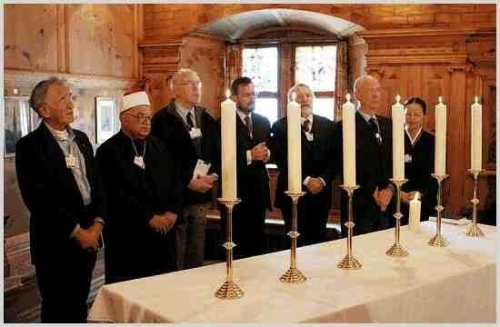 Holocaust Memorial Ceremony with Elie Weisel, Klaus Schwab, and religious leaders – Photo:    RDR