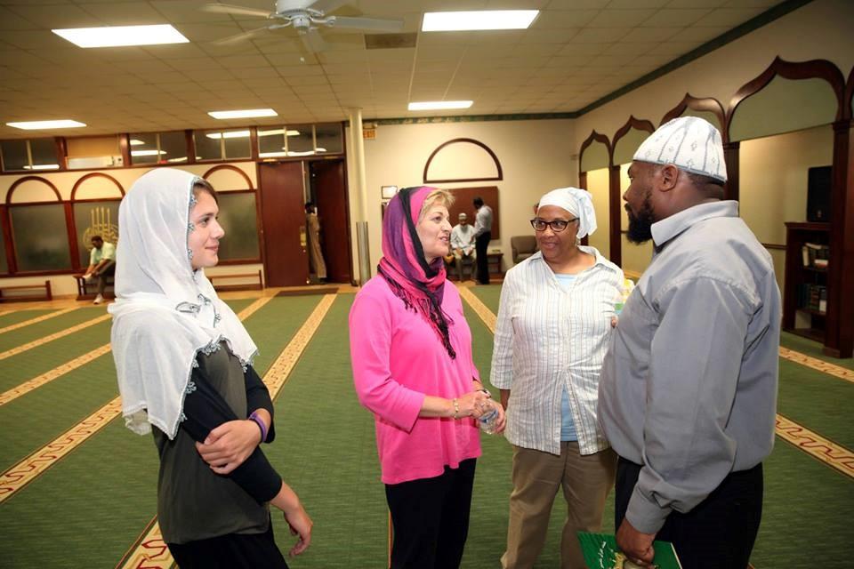 My daughter and me attending a Ramadan  iftar  at Masjid Al-Islam in Atlanta, GA – Photo: VG