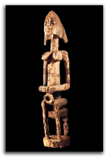 Wooden Nommo Figure from the Dogon tribe. Mali, 19th/ 20th century