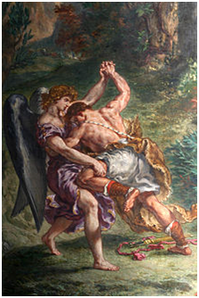 Jacob Wrestling with the Angel by Eugène Delacroix - Photo: Wikipedia