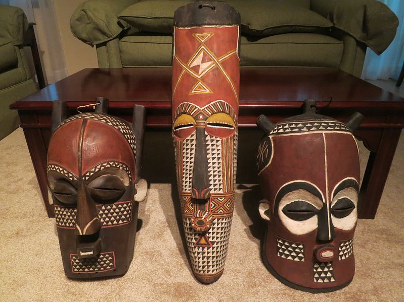Bakongo    masks from the   Kongo Central   – Photo:  Wikipedia