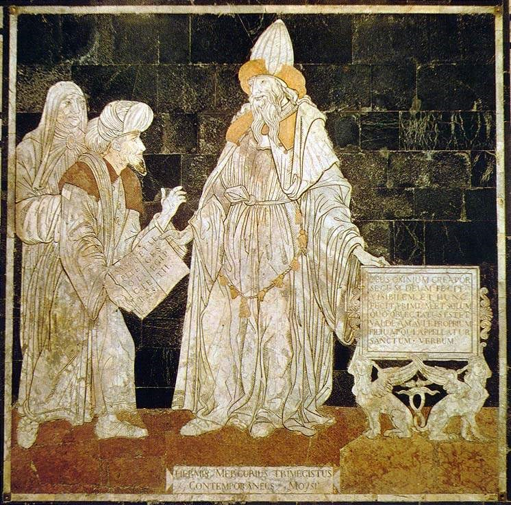 Hermes Trismegistus, floor mosaic in the Cathedral of Siena – Photo:  Wikipedia