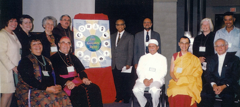 Representatives of the 13 religions represented on the Golden Rule poster – Photo: Scarboro Missions