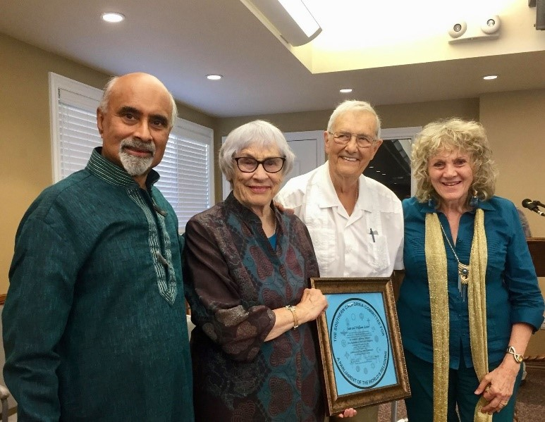 Bill and Jean on their 60th wedding anniversary with Joseph Prabhu and Ruth Broyde Sharone – Photo: SCCPWR
