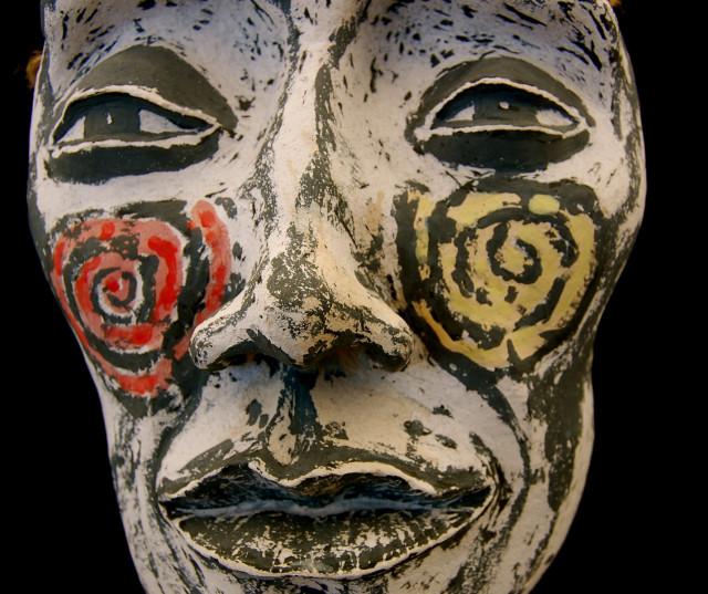 """""""WILD & FREE"""" ceramic sculpture (13"""" x 9"""" x 4"""") 2014 – Andre Van Zijl"""