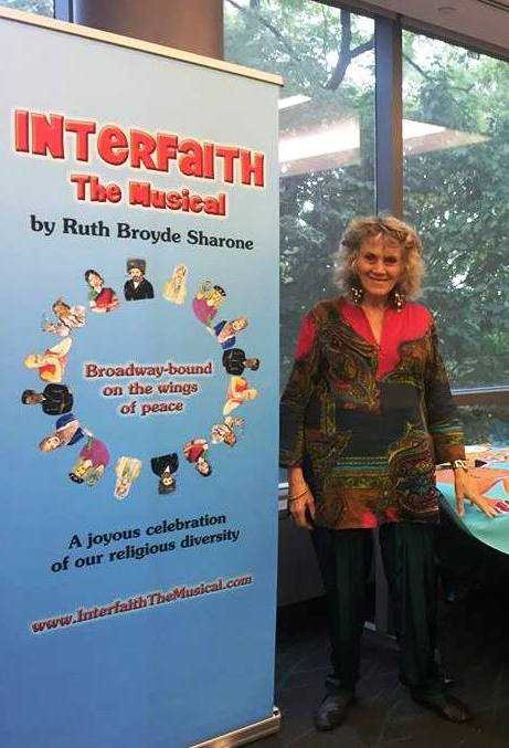 Ruth shares songs from her musical with students at Manhattan College – Photo: RS